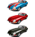 Retro English sport car set vector image