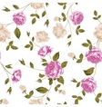 Seamless texture of pastel roses for textiles vector image
