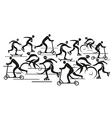 People in the move vector image