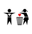 Betraying girl and her boyfriend vector image vector image