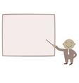 Man with pointer near the board vector image