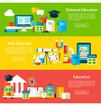 Distance Education and Web Tutorials Flat vector image