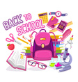 colorful of big pink backpack with many stud vector image