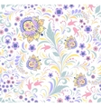 floral seamless pattern on white background vector image