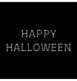 Happy Halloween bone text Black background vector image