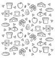healthy food pattern vector image
