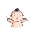 little thai boy make a wry face vector image