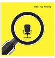 New job finding concept vector image