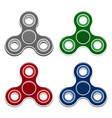 set of fidget spinner toys isolated icons vector image