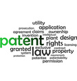 word cloud patent vector image