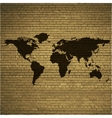 World map web icon flat design vector image