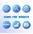 Icons for website vector image