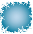 frosty border vector image vector image