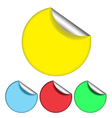 colorfull simple stickers vector image