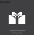 gift premium icon white on dark background vector image