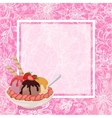 Ice Cream Strawberries and Background vector image