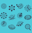 Planet flat icons vector image