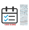 Day Tasks Icon vector image