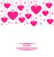 hearts card hang vector image vector image