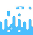 Abstract Flat Design Water vector image
