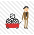Flat about businesspeople design vector image vector image