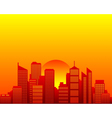 City skyline and sun vector image vector image