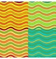 Abstract wavy seamless pattern set vector image