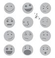 Debossed Faces vector image
