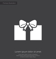 gift premium icon white on dark background vector image