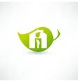 Green eco home vector image