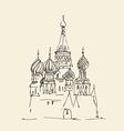 Moscow Cathedral of Vasily the Blessed city vector image