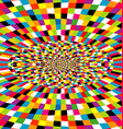Multicolor kaleidoscope background with optical vector image