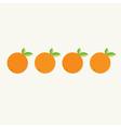 Orange fruit set with leaf row Healthy lifestyle vector image