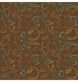 seamless kitchen brown pattern vector image