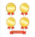 Set of golden medals vector image