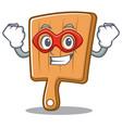 super hero kitchen board character cartoon vector image