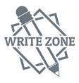 write zone logo vintage style vector image