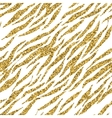 Abstract gold glitter animal print white seamless vector image