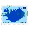 mail to-from Iceland vector image