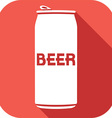 Beer Can Icon vector image vector image
