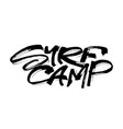 surf camp modern calligraphy hand lettering for vector image