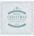 Christmas retro typography and light vector image vector image