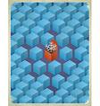 Gift box with snowflake vector image