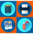 set computer icons of photo print vector image