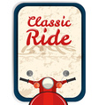 Banner design with classic ride vector image