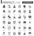 black classic business and finance web icons set vector image