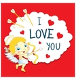 Cartoon Greeting Card Valentines Day vector image
