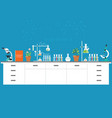 chemical laboratory science and technology vector image