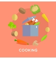 Cooking Concept in Flat Design vector image