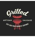 Grilled Artisan Sausage Hot Dog Day Vintage vector image